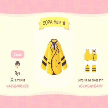 hello my dear frends in the kpop hole, i made some SOPA uniform for your AnimalCrossingNewHorizons